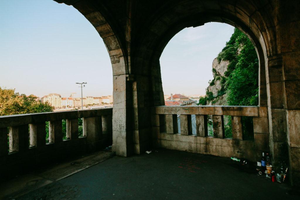komulny z widokiem na Budapeszt