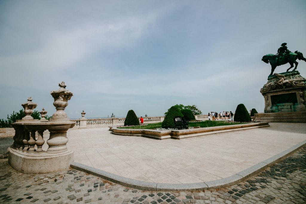 teren zamku królewskiego w budapeszcie