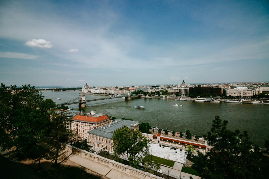 widok na miasto Budapeszt