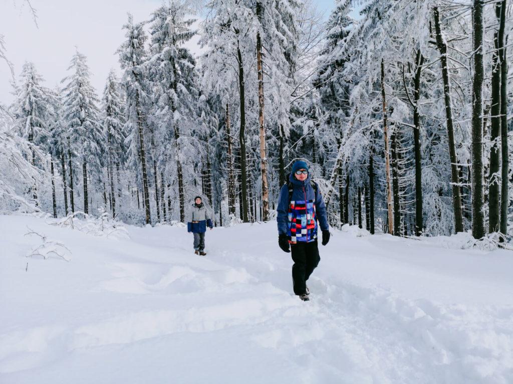 wycieczka w góry zimą